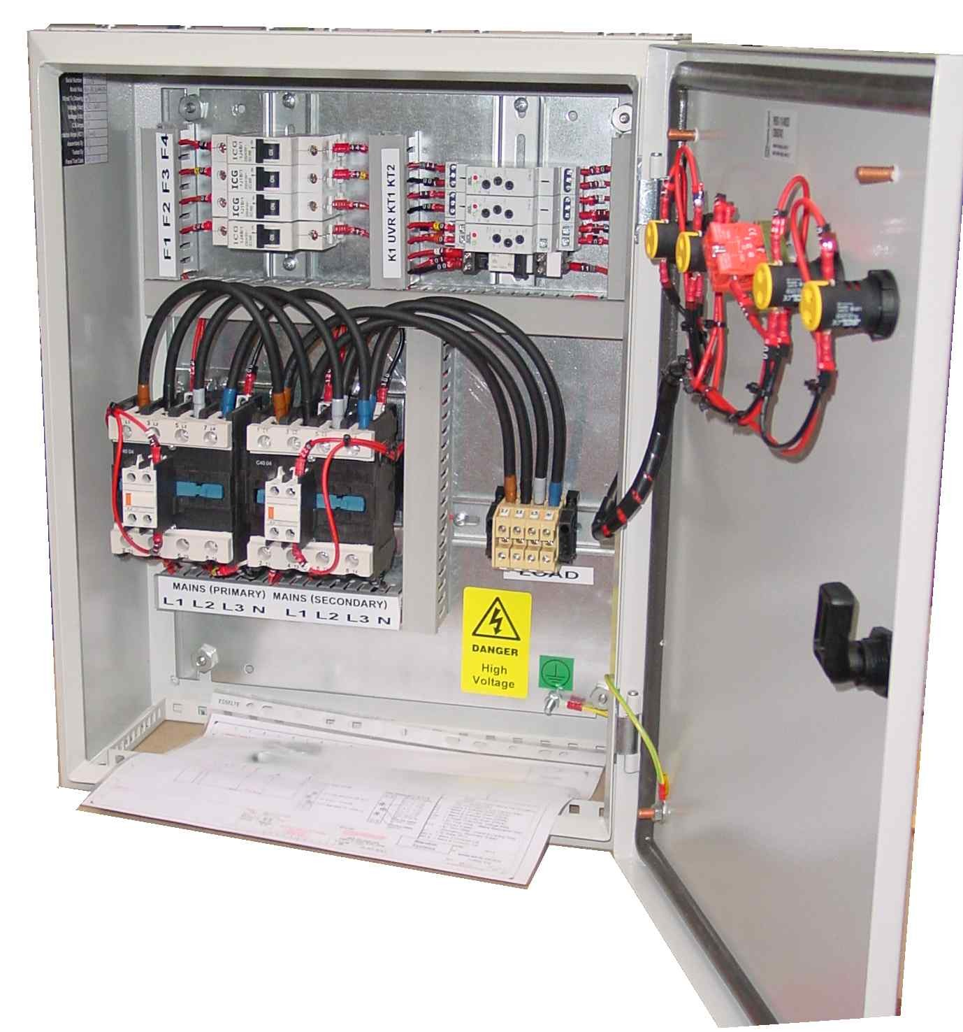 Ats 3 Phase Mains Mains Icg Contactors 40 1000a 783 on 3 pole switch diagram