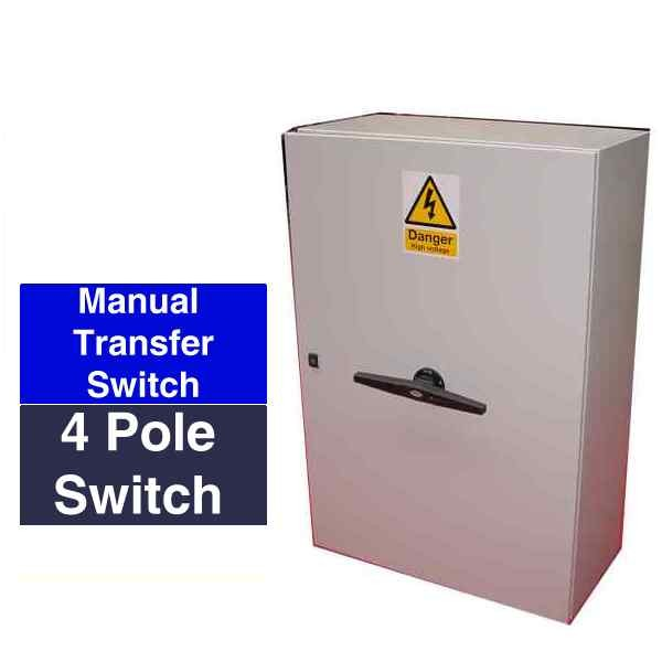 MANUAL CHANGE OVER SWITCH 4 POLE 63-3150 Amps