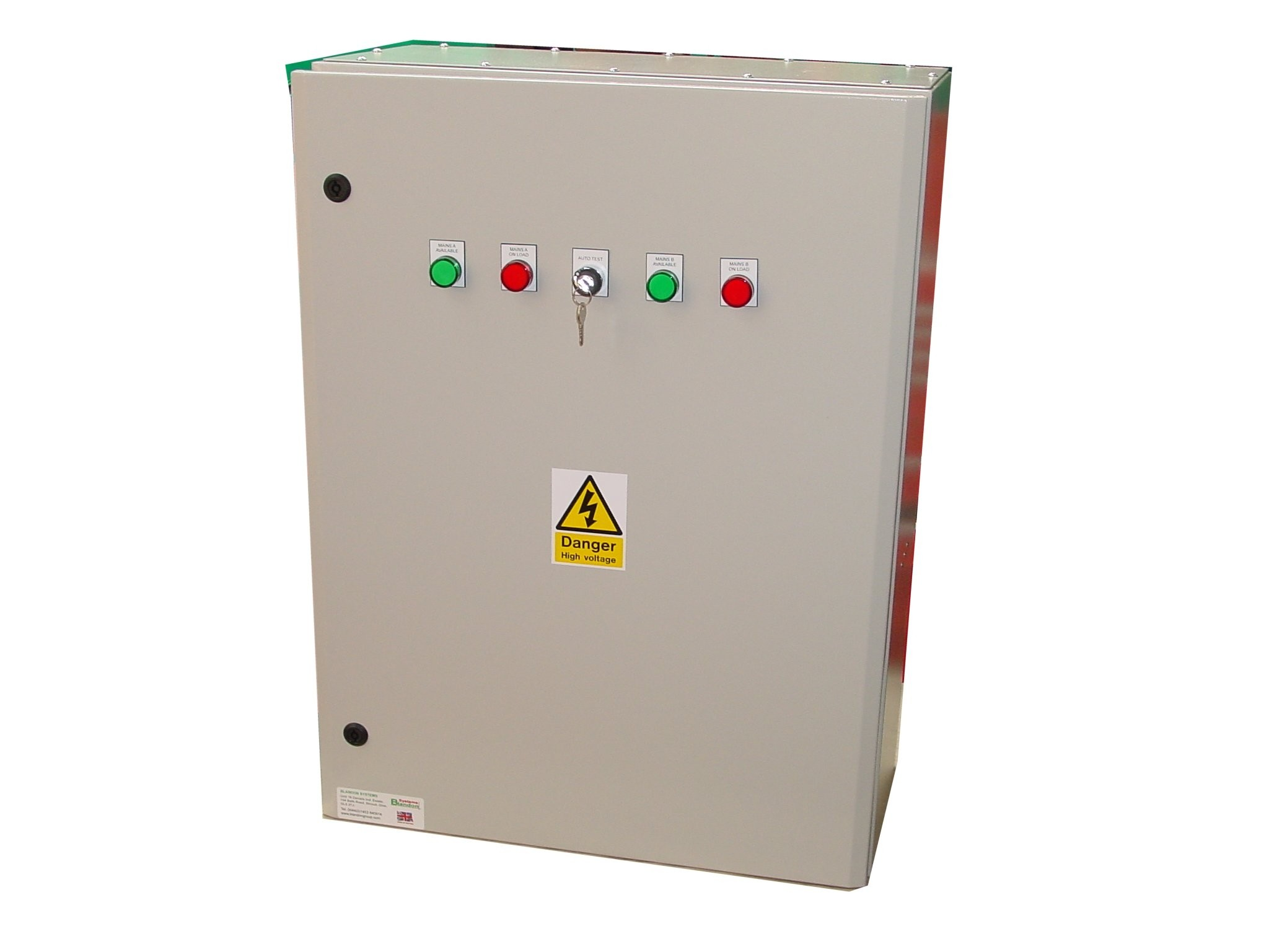 200A ATS 3 Phase Mains-Mains 400V, UVR Controlled, ABB Contactors