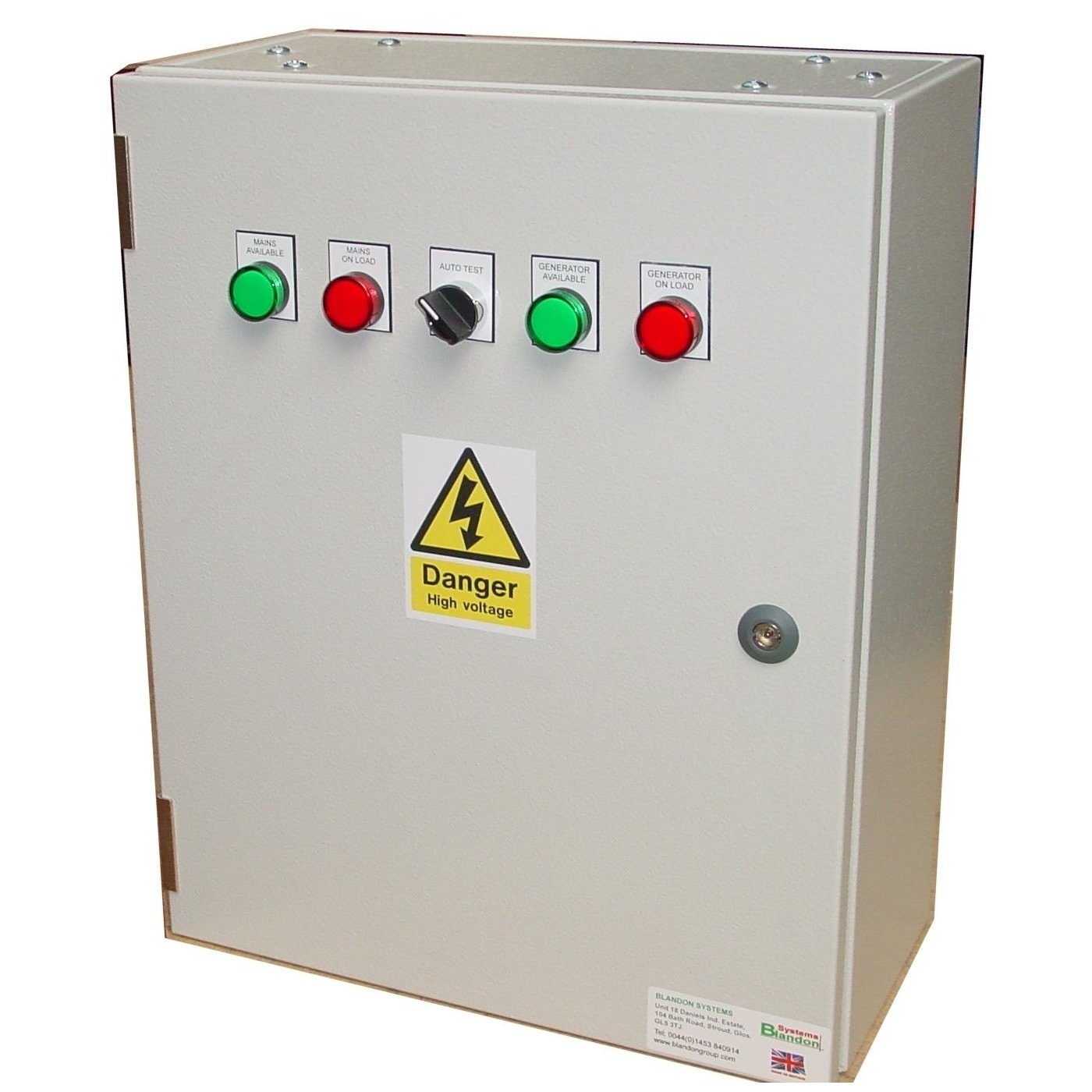 100A ATS Single Phase 230V, UVR Controlled, ABB Contactors
