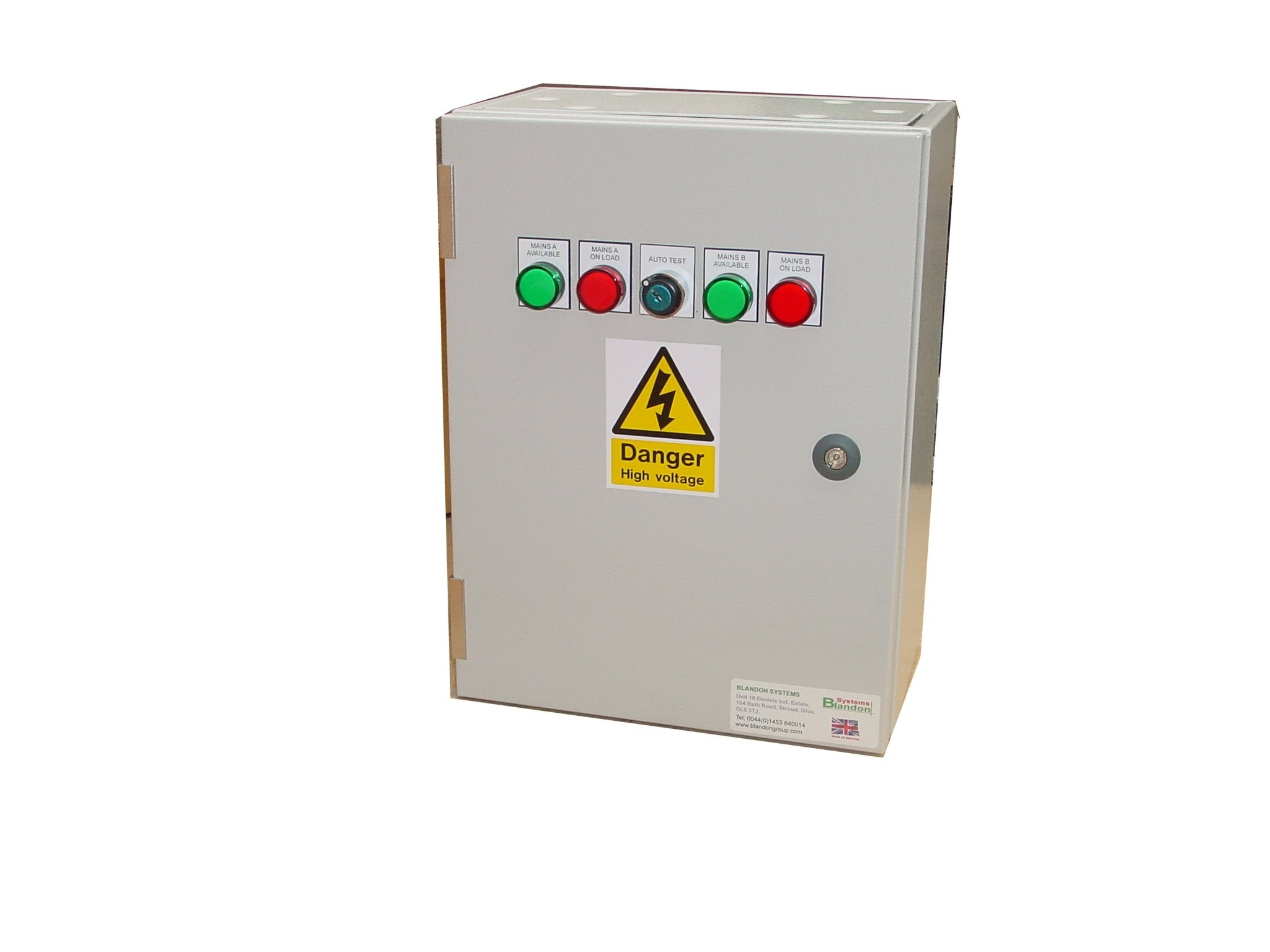 100A ATS 3 Phase Mains-Mains 400V, UVR Controlled, ABB Contactors