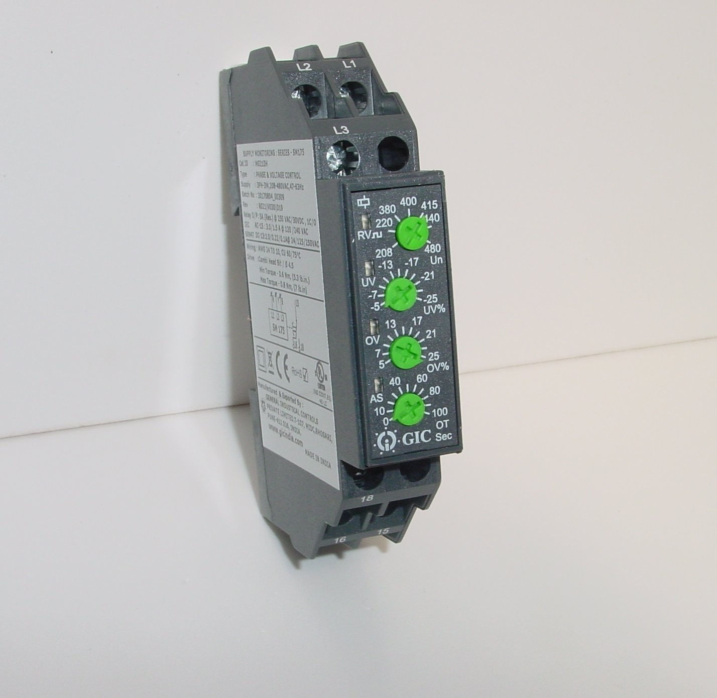VOLTAGE SENSING RELAY (UVR) 3 Phase 300-003-GIC