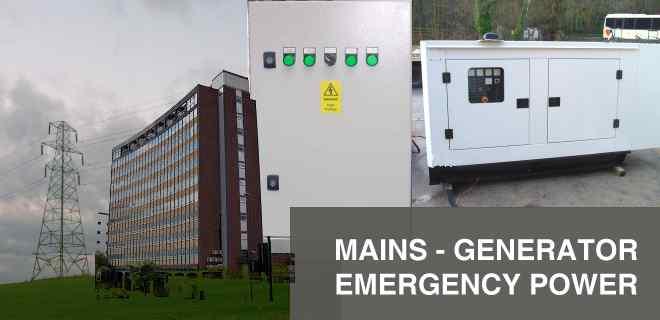 Mains Generator Emergency Power